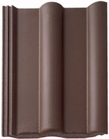 Цементно-песчаная черепица Braas Франкфурт коричневый