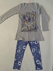 Комплект туника+лосины трикотажные для девочки р.116-146 F&D, фото 3