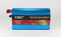 Преобразователь UKC Автомобильный Инвертор AC DC 12V 220V 400W Синусоида