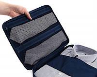 Дорожній органайзер для сорочок або блузок Monopoly travel блакитний / Дорожный органайзер для рубашек голубой
