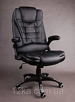 Компьютерное кожаное кресло Veroni черное