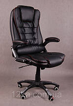 Компьютерное кожаное кресло Veroni черное, фото 2