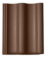Цементно-песчаная черепица Braas Харцер коричневый