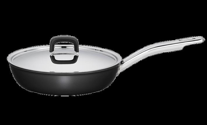 Сковорода для газовый плит Fiskars Form + крышка (1015323) 26 см, фото 2