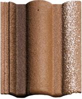 Цементно-песчаная черепица Braas Адрия коричневый
