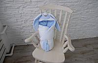 """Конверт-одеяло на выписку """"Голубой Зайка"""""""