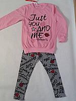 Пайта и лосины микроначес для девочки р.122-146 F&D 140/146, розовый