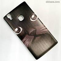 Силиконовый чехол с рисунком для Doogee X5 Max / Max Pro (Чёрный кот)
