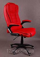 Компьютерное кожаное кресло Veroni красное