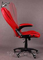 Компьютерное кожаное кресло Veroni красное, фото 2