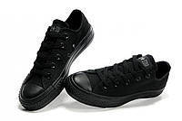 Кеды Converse All Star Black Monochrome (Чёрные низкие)