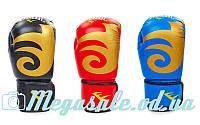 Перчатки боксерские Elast 3630 на липучке: кожа, 8- 12 унций oz