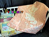 Теплое байковое одеяло 100% хлопок, оранжевое, фото 1