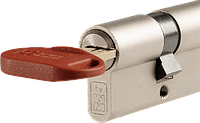Цилиндр Mottura Project  82мм (36х46) ключ/тумблер никель