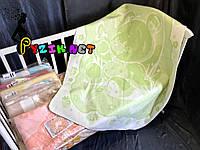 Теплое байковое одеяло 100% хлопок, зеленое