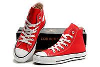 Кеды Converse (Красные высокие)