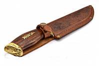 """Нож охотничий """"Утка """",ручная работа ,качественная сталь +кожаный чехол в комплекте"""