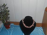 Бусы из розового жемчуга и нежно-розового редкого коралла