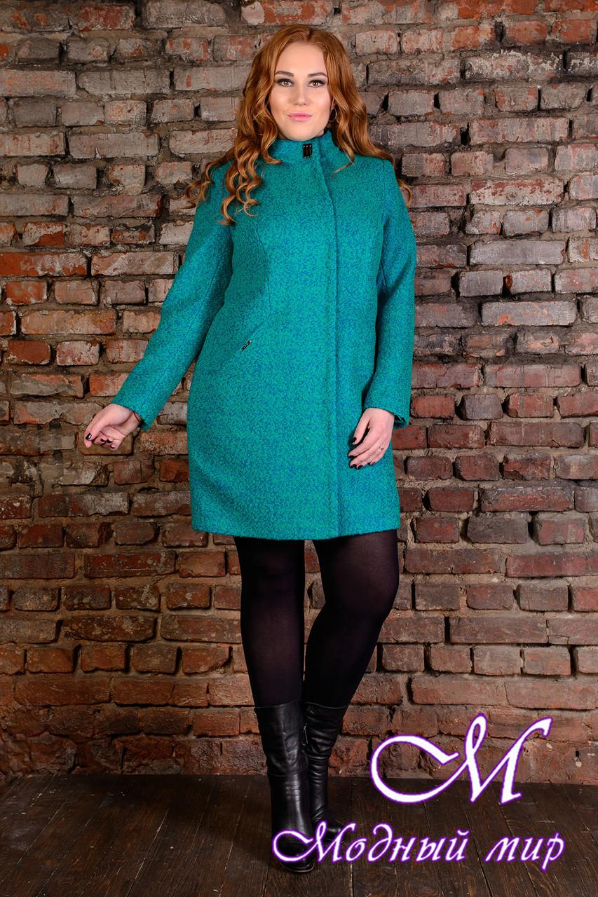 """Женское демисезонное пальто батал """"Сплит Donna букле крупное"""" (р. XL, XXL, XXXL) арт. Сплит Donna букле 9201"""
