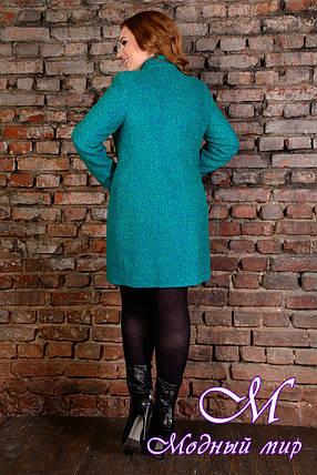 """Женское демисезонное пальто батал """"Сплит Donna букле крупное"""" (р. XL, XXL, XXXL) арт. Сплит Donna букле 9201, фото 2"""