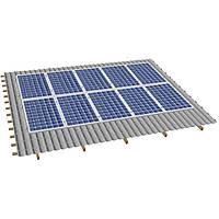 Система крепления солнечных батарей на наклонную крышу для 10-ти модулей