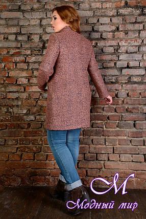 """Женское осеннее пальто батал """"Сплит Donna букле крупное"""" (р. XL, XXL, XXXL) арт. Сплит Donna букле 9202, фото 2"""