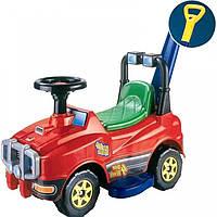 Детский автомобиль Джип-каталка с ручкой