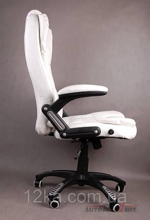 Компьютерное кожаное кресло Veroni белое, фото 2