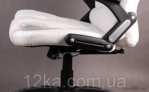 Компьютерное кожаное кресло Veroni белое, фото 3