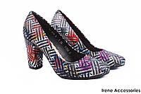 Туфли женские Bioeco натуральная кожа цветные (стильные, каблук, удобная колодка)