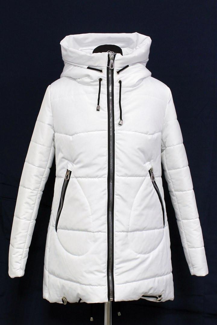 Демисезонная женская куртка Шанель белого цвета   продажа, цена в ... efadc71567d