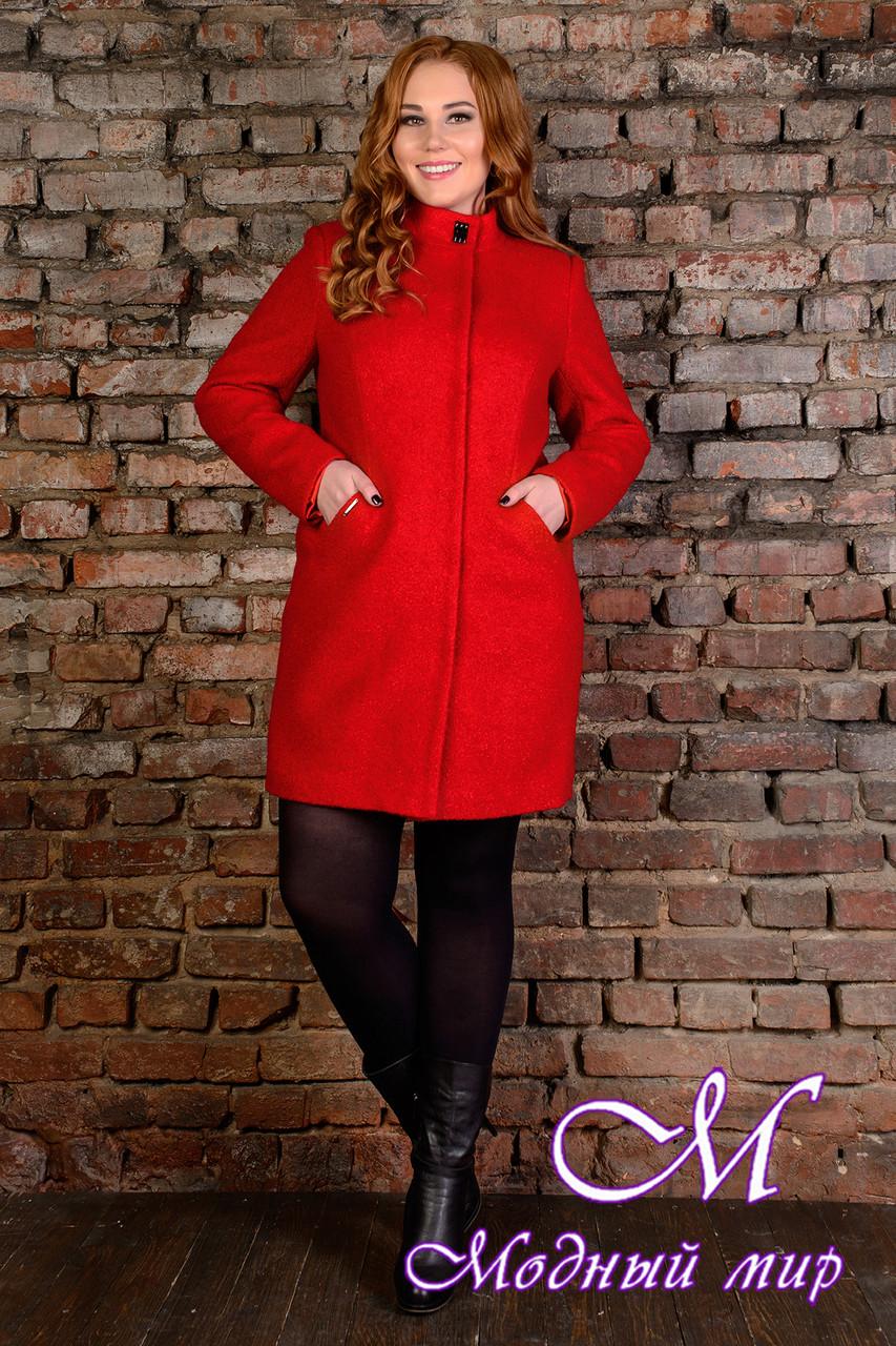 """Демисезонное женское пальто батал """"Сплит Donna букле крупное"""" (р. XL, XXL, XXXL) арт. Сплит Donna букле 9208"""