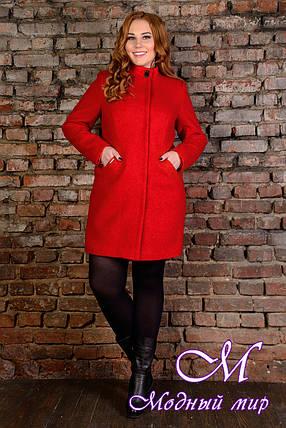 """Демисезонное женское пальто батал """"Сплит Donna букле крупное"""" (р. XL, XXL, XXXL) арт. Сплит Donna букле 9208, фото 2"""