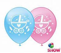 """Воздушные шарики Коляски шелкография 12"""" (30 см) ТМ Show"""