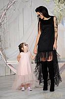 Платье  детское с сеткой  15341