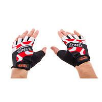 Перчатки для фитнеса Ronex Lycra RLF-501(08) (р.M, красные)