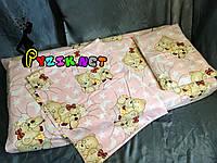 Постельный набор в детскую кроватку (3 предмета) Мишки Спят Розовый