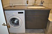 Мебель для ванной комнаты в оттенках серого