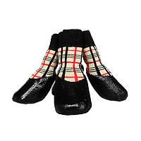 Носки водонепроницаемые для собак Клеточка бежевая, Dobaz
