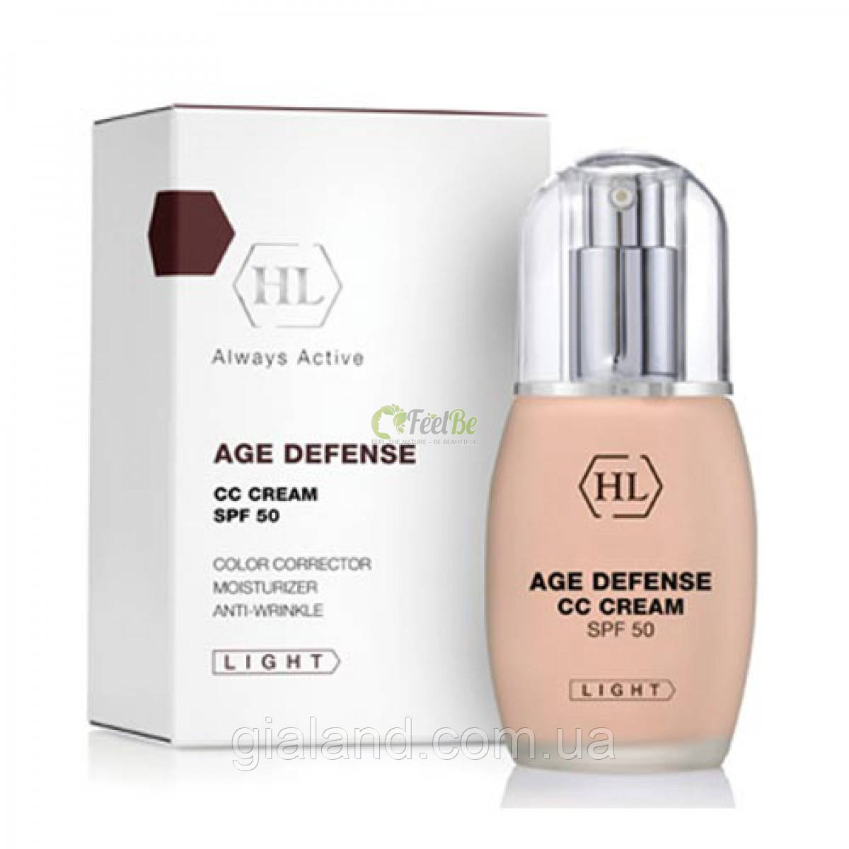 Holy Land Антивозрастной защитный крем (светлый тон) AGE CONTROL Defense CC Cream SPF- 50 Light 50мл