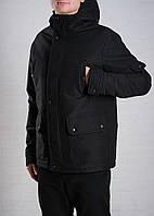 Парка демисезонная, куртка мужская, весенняя, осенняя до - 15 градусов, черный