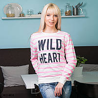 Свитшот женский полосатый W11-8010