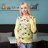Свитшот женский с узором сердце W11-8019-2 свитшот supreme Украина