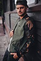 Куртка, ветровка, бомбер, демисезонная, мужская, весенняя, осенняя , камуфляж
