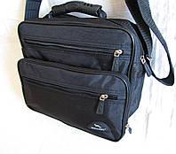 Мужская сумка через плечо Барсетка деловая жатка 29х24х16см