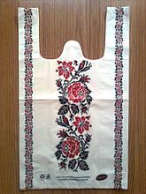 """Полиэтиленовые пакеты-майка белые """"Вышиванка"""" 30х50 см, полиэтиленовый пакет-майка белый упаковочный купить"""