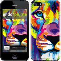 """Чехол на iPhone 5 Разноцветный лев """"2713c-18"""""""