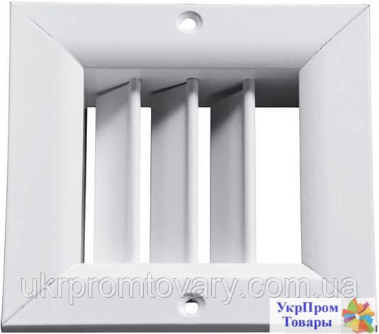 Решетка однорядная регулируемая Вентс VENTS ОРГ 250х250, вентиляторы, вентиляционное оборудование, фото 2