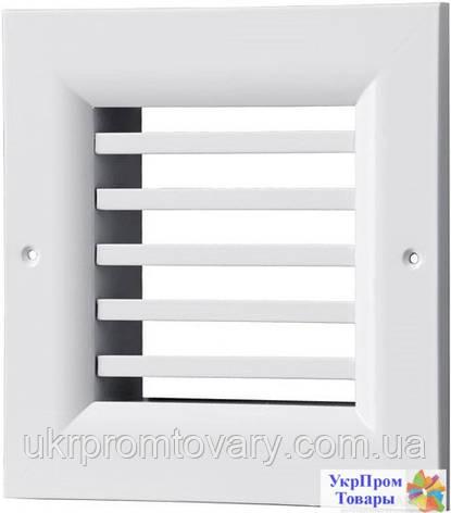 Решетка однорядная нерегулируемая Вентс VENTS ОНГ 1 400х140, вентиляторы, вентиляционное оборудование, фото 2