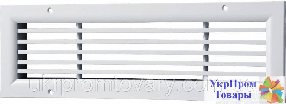 Решетка однорядная нерегулируемая линейная Вентс VENTS ОНЛ 1 390х200, вентиляторы, вентиляционное оборудование
